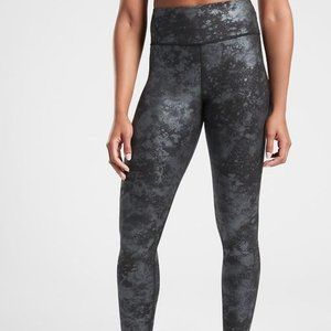NWOT Athleta Black Elation Misty lace Leggings